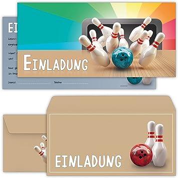 12 Bowling Einladungskarten Kinder Geburtstag Karten Geburtstag Einladungen