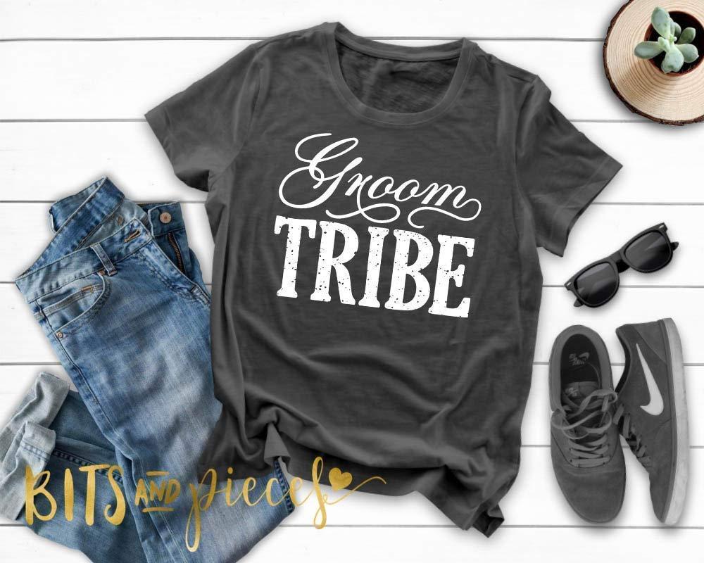 de809181 Amazon.com: Groom Tribe T|shirt | Bachelor Party Shirts | Groomsmen Shirts  | Wedding Party Shirts | Groomsman | Honeymoon shirt: Handmade
