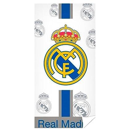 Toalla de baño, algodón, blanca, de Copa del Mundo 2018, Real Madrid