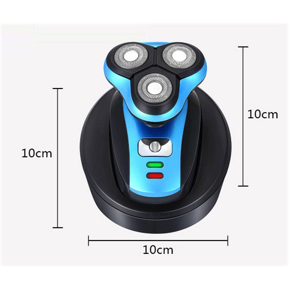 iXpro Rotativa Afeitadora Eléctrica para los hombres Depiladora eléctrica  inalámbrica seco    húmedo Cortapelos de c890691d6ec2