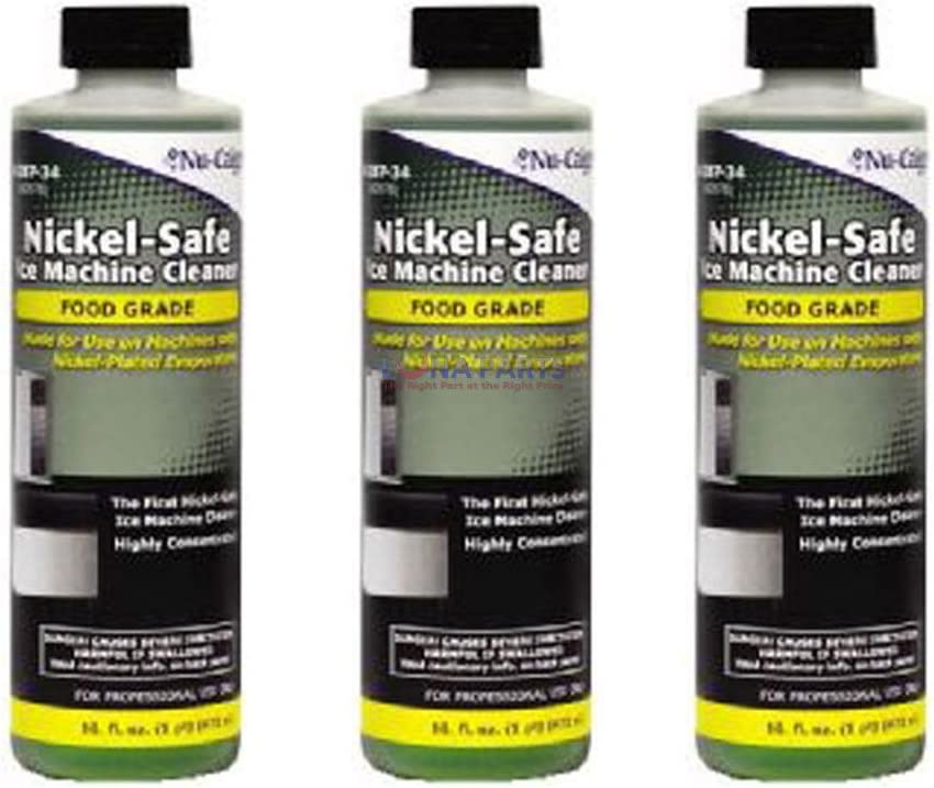 3 Bottles of 16oz Nickle Safe Ice Machine Cleaner. Safe for Manitowoc Ice Machines 615PNf5RXkL