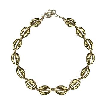 BOHO Leather Cowrie Shell Choker Necklace Bib Statement Charm Pendant Jewelry YK