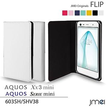 4e1af53e24 AQUOS Xx3 mini 603SH/SERIE mini SHV38 ケース JMEIオリジナルフリップケース ホワイト Softbank au