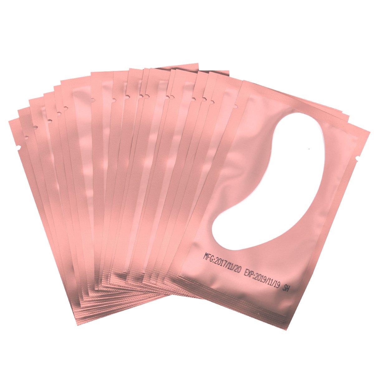 Eye Gel Pads - 100 Pairs of Eyelash Lash Extension Under Eye Gel Pads Lint Eye Patches (pink100)