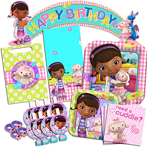 Disney Doc McStuffins Party Supplies Ultimate Set-- Birthday Party Favors, Plates, Napkins and