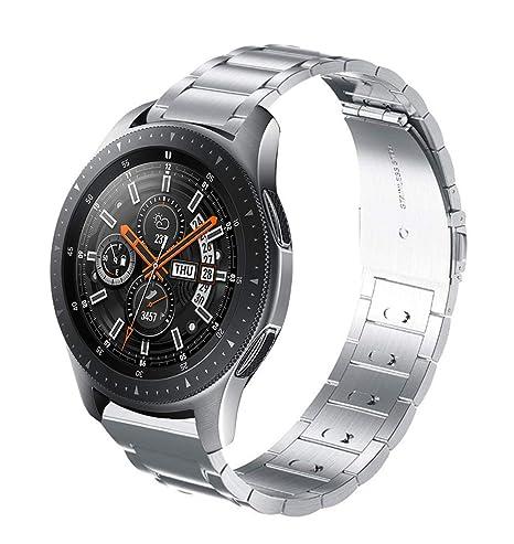 Aresh - Correa magnética para Reloj Samsung Gear S3 Frontier de 22 mm de Acero Inoxidable con Cierre magnético para Gear S3 Frontier Classic/Huawei ...