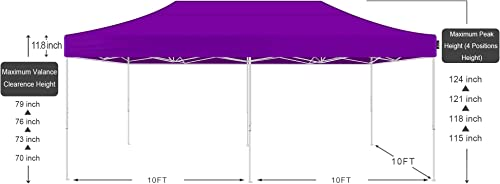 AMERICAN PHOENIX Canopy Tent 10×20 Pop Up Instant Shelter Shade Heavy Duty Commercial Outdoor Party Tent 10x20FT