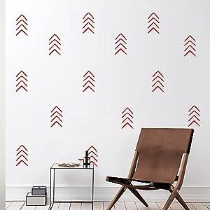 Set of 12 Vinyl Wall Art Decals - Arrows - 8