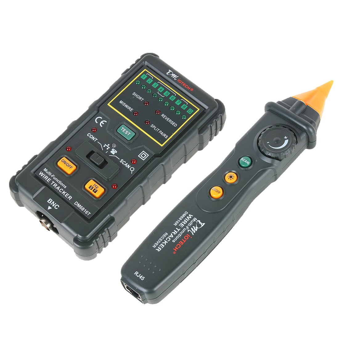 uxcell RJ11 RJ45 BNC Wire Tracker Network Cable Tester Telephone ...