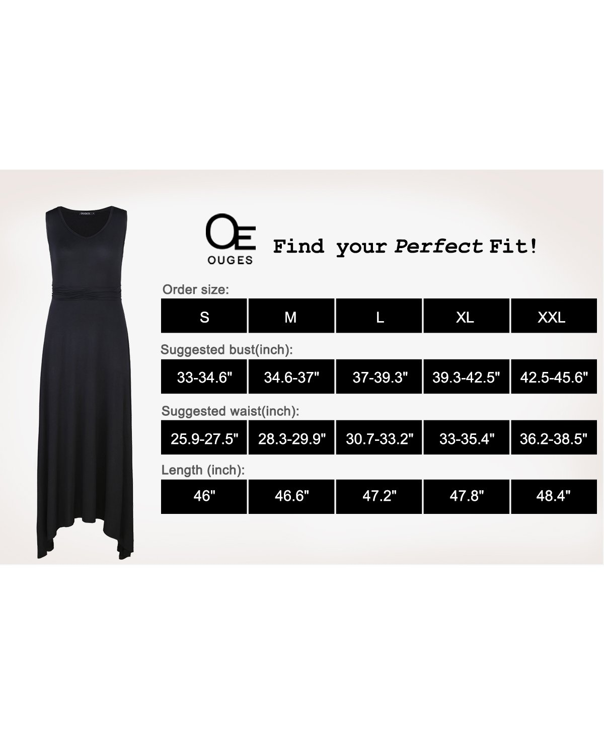 OUGES Women's V Neck Sleeveless Summer Casual Long Maxi Dresses(Navy,S) ¡­ by OUGES (Image #6)