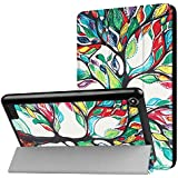Fire 7 Case(7th Generation, 2017 Release), iThrough® Lightweight Slim Shell, Tri-fold Stand Case Folding Cover for Amazon Fire 7 Tablet with Auto Wake/ Sleep