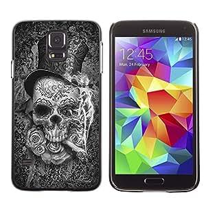Be Good Phone Accessory // Dura Cáscara cubierta Protectora Caso Carcasa Funda de Protección para Samsung Galaxy S5 SM-G900 // Top Hat Death Metal Cigar Rose Rock