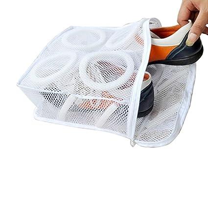 Censhaorme Malla doméstica Lavandería Zapatos Calzado Ropa Interior Lavado Lavar y secar Bolsa