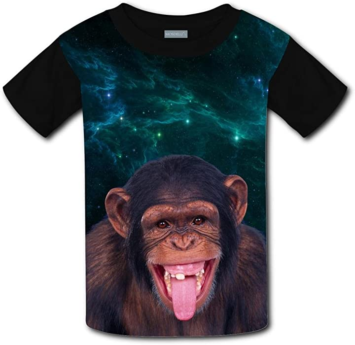 Elcacf Kids//Youth Naughty Grimace Monkey T-Shirts Short Sleeve Children Tees
