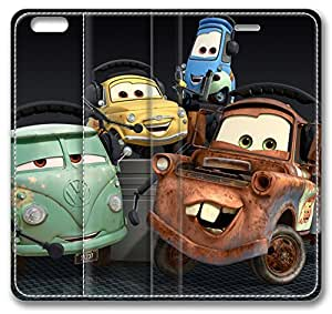 Cartoons Cars 2 iPhone 6 Case,Leather iPhone 6 Cover Case