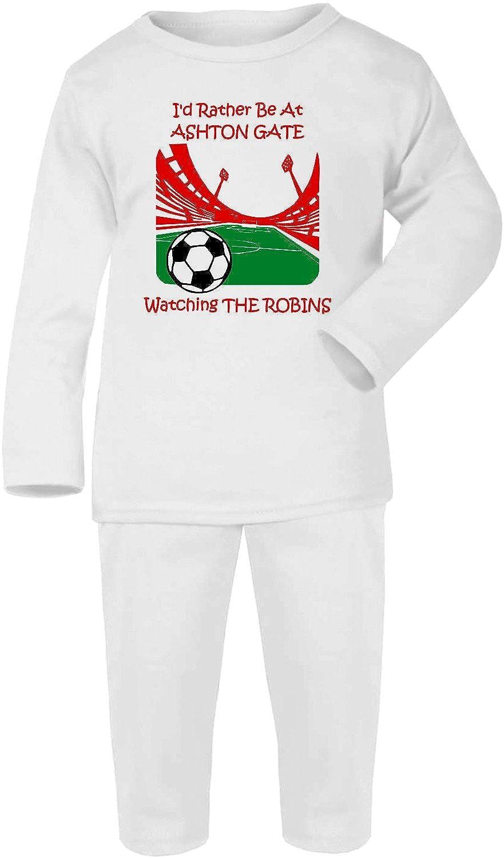 Hat-Trick Designs Bristol City Football Baby Pyjamas set PJs Nightwear//Sleepwear-Id Rather Be-Unisex Gift