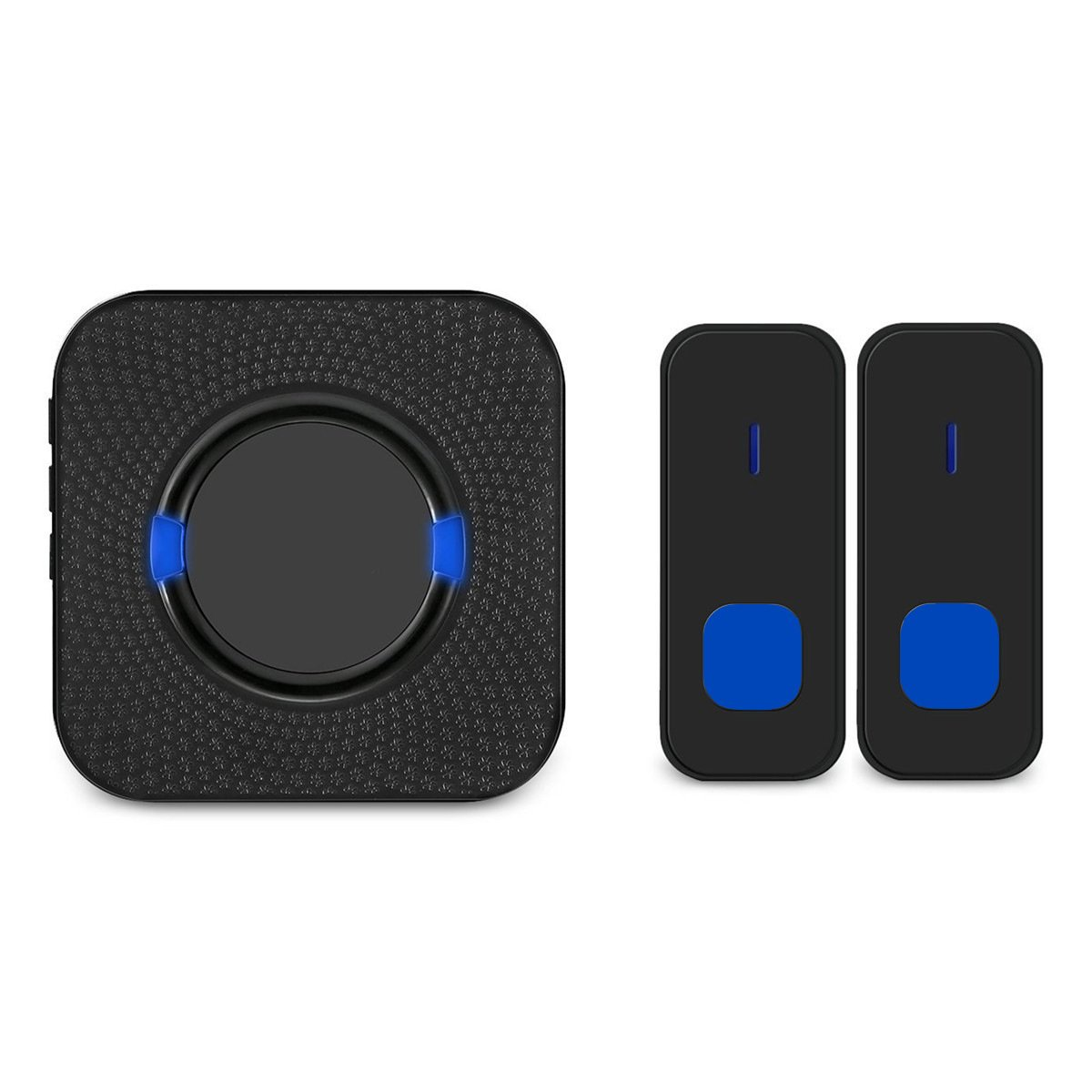 Wireless Doorbell With 2 Push Buttons, YEEMEE Waterproof Plug-in Door Bells Chime Kit with LED Flash at 1000 feet Range,remote control door bell, 55 Melodies to Choose