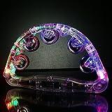 バラエティ本舗 タンバリン 光る LED レインボーカラー 半円型