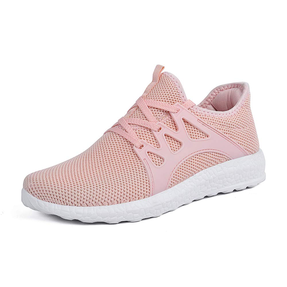 MARSVOVO Boy's Girl's Lightweight Breathable Sneakers Athletic Running Walking Tennis Shoes Pink Size 6.5 by MARSVOVO
