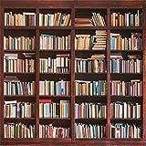 Leowefowa 8X8FT Bookshelf Backdrop Study Room Bookcase Interior Decoration Wallpaper Vinyl Photography Background Kids Adults Photo Studio Props