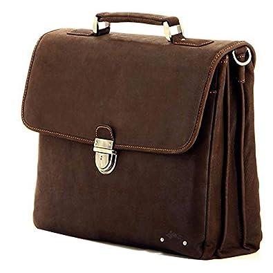 Charmoni sac en cartable porte mallette soufflets serviette 3 vachette cuir et business clé de 1qr1wfgx
