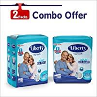 Liberty Eco Adult Diaper Pants, Medium 40's Pack (2 Pack X 20 pcs) (61-115 Cms | 24-45Inches)