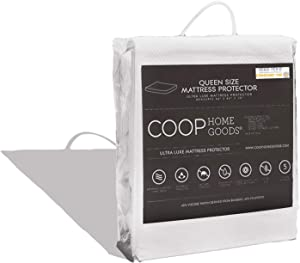 COOP HOME GOODS – Mattress Protector – Soft and Noiseless - Waterproof and Hypoallergenic - Protect Your Mattress Against Fluids/Spills/Mites/Bed Bugs - Oeko-TEX Certified Lulltra Fabric - Queen