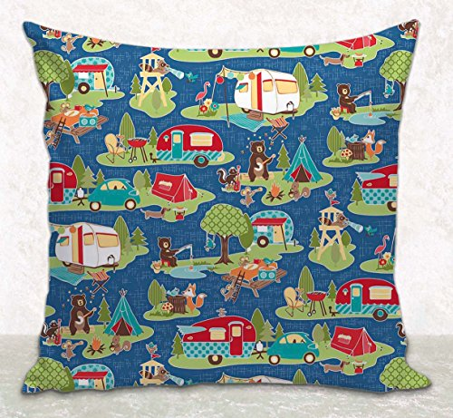 Throw Pillow Cover - Cushion Cover - RV Camping Décor - Fits 16