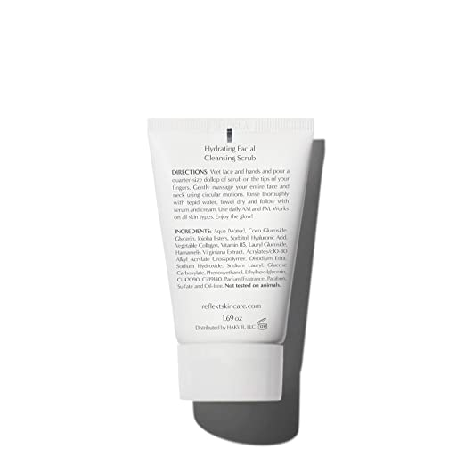 REFLEKT 1 Best Exfoliating Face Wash Gentle Hydrating Daily Face Scrub,  Facial Pore Cleanser,