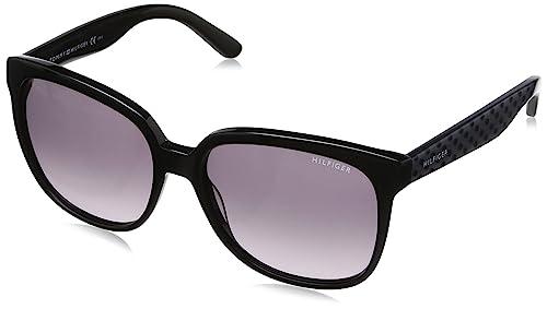 Tommy Hilfiger - Gafas de sol Wayfarer TH 1275/S, color negro, talla 56 mm