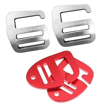 0c1c0a8a7482 Amazon.com: MonkeyJack 4 Pieces 1 inch G Hook Webbing Buckle for ...