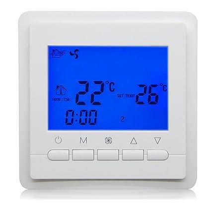 Beok TOL43-AC2 Daily Timer Termostato Fan Coil Termostato Smart Central Conditioner, 85-