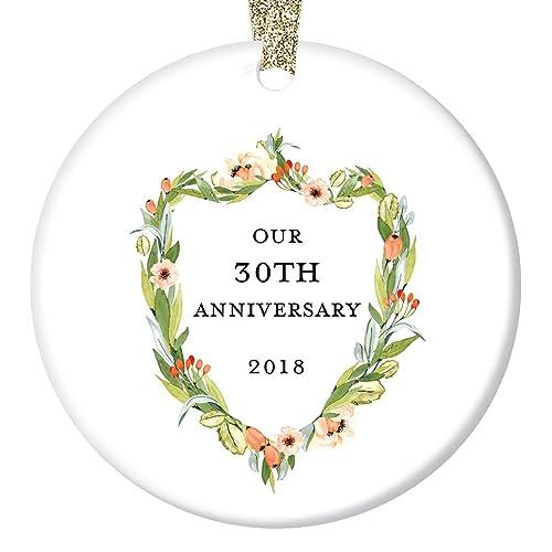amazon com 30th anniversary gifts thirtieth christmas ornament