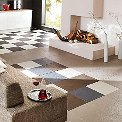 IncStores Slate Flex Multi-Purpose Hidden Interlocking Textured PVC Floor Tiles 6 Tile Pack Covers 16.67 sqft