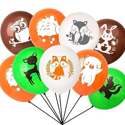Amazon.com: 40 globos de animales de Woodland Creatures para ...