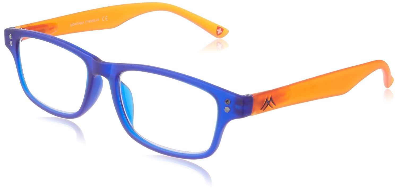 e2e5fc7c026 Montana MR97B Strength Plus 1.5 Blue Orange Two Tone Reading Glasses   Amazon.co.uk  Health   Personal Care