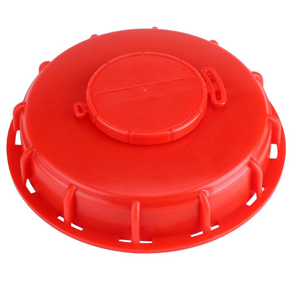 IBC Tank Deckel, IBC Wassertank Vented Atemschutzdeckel Deckel Cap Adapter Kunststoff Rot(A) Dioche
