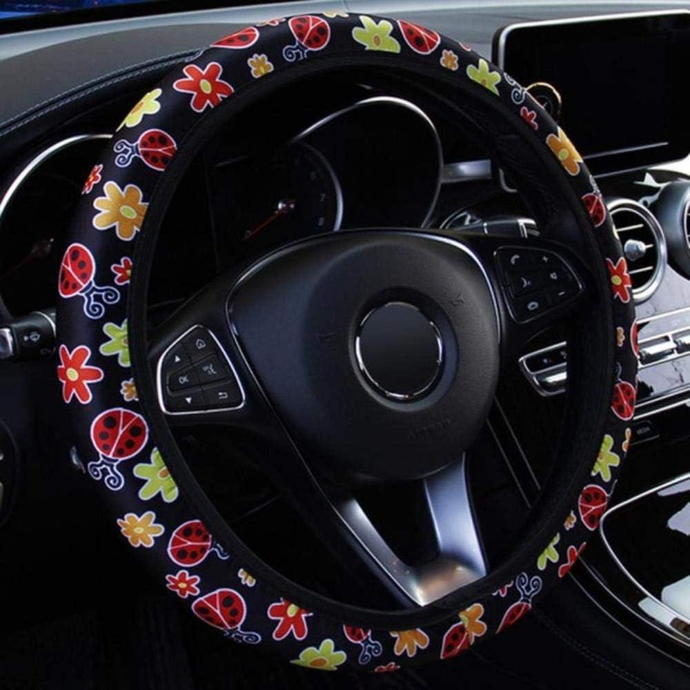 Neue Blumen-Druck Auto Lenkradbezug Anti-Rutsch-Auto-Styling Elastic 38CM Steering Abdeckungen Car Styling Autozubeh/öR Verkauf China A