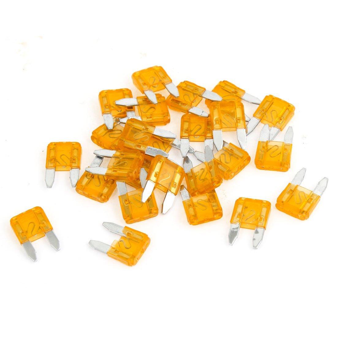 25 pezzi di plastica arancione fusibili alloggiamento 5a veicolo auto mini auto blade
