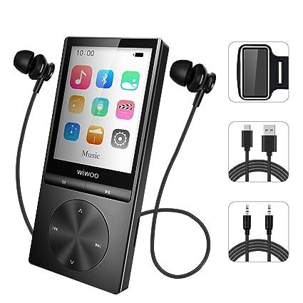 17ff9a4f042 Reproductor MP3 portátil con Bluetooth, 16 GB, Radio FM, grabadora de Voz,