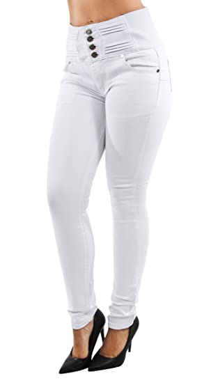 Womens Juniors, Butt Lift, Push Up, Elastic High Waist, Skinny Jeans