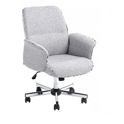 Homy Casa Leisure Grey Fabric Home Office Chair Height Adjustable Chair
