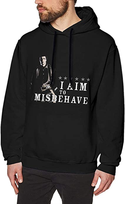 Imagen deDFGDG Men's Hooded Sweatshirt I Aim to Misbehave Firefly Fashion Hoodie Pullover Black Navy