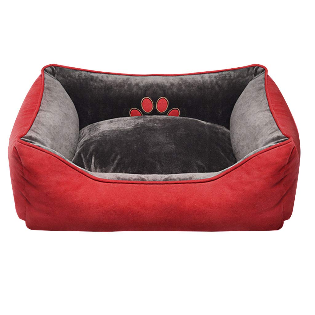 75cmx64cmx20cm Pet Backpack Pet Lying Cushion Crystal Suede Full Detachable Wear Resistant Bite Cat Litter Dog Pad Red Choice of Size Beds (Size   75cmx64cmx20cm)