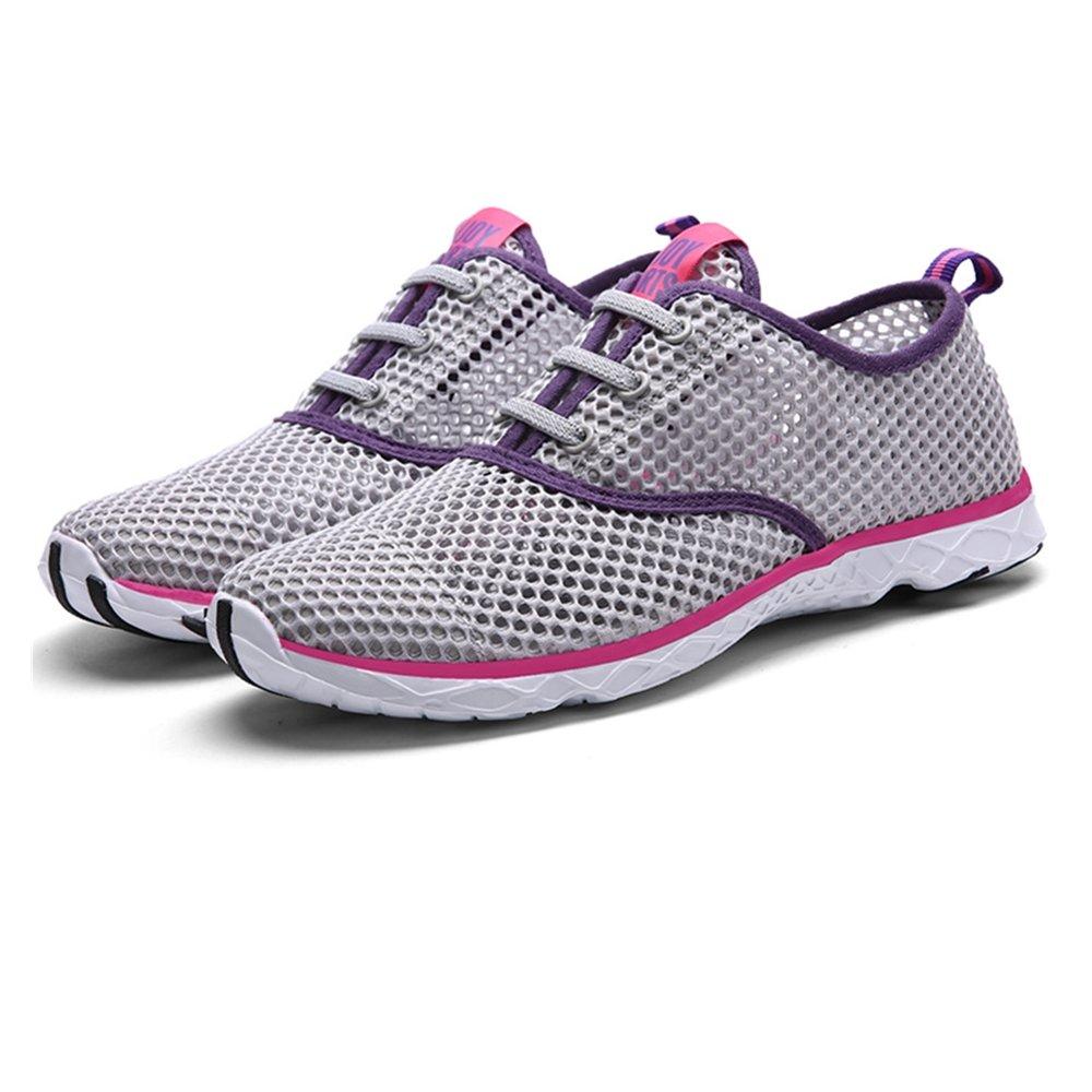 Quicksilk Women Quick Drying Mesh Slip On Water Shoes (10 B(M) US, Gray)