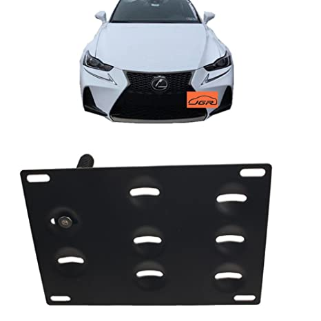 RX LS iJDMTOY Front Bumper Tow Hole Adapter License Plate Mounting Bracket For Lexus RC200t RC250 RC300 RC350 RC-F GS350 GS460 GS450h etc