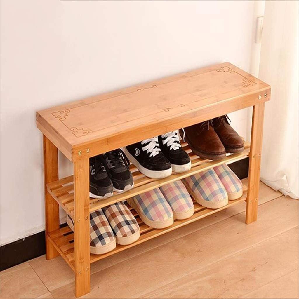 almacenamiento de Zapatos SCDXJ 2 niveles Size : 90cm taburete de almacenamiento de m/últiples capas 5 unidades Madera banco de Zapatos