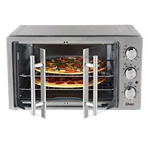 Oster TSSTTVFDXL Manual French Door Oven, Stainless Steel