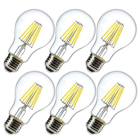 Amazon.com: Bombilla LED A19 de intensidad regulable, luz ...