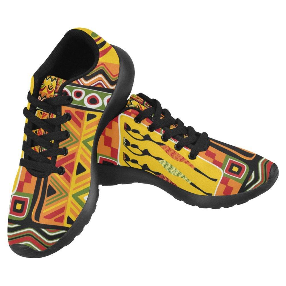 InterestPrint Women's Jogging Running Sneaker Lightweight Go Easy Walking Casual Comfort Running Shoes Size 11 African Ethnic Tribes